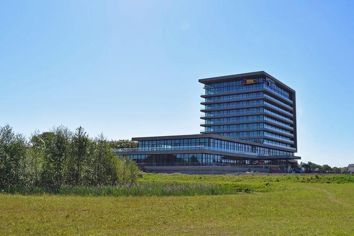 Het Valk Exclusive-hotel in Deventer, dat nog in aanbouw is. Komend najaar mogen daar 80 proefslapers de hotelkamers testen.