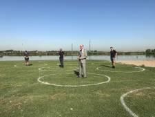 Cirkels bij Krabbeplas moeten jongeren bewust maken van anderhalve meter