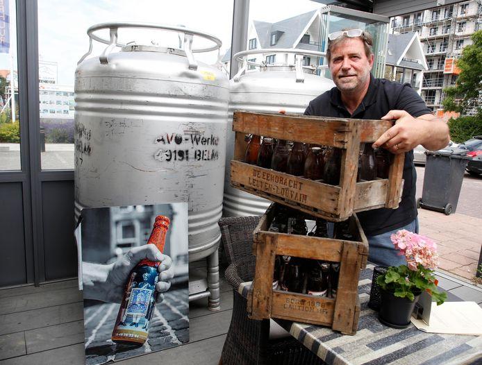 De pop-up in Cadzand-Bad dient als proeftuin voor de Gemeenteschool in Groede, waar een brouwerij met proef- en eetlokaal komt. Marc Menue (foto), Stijn Jordans en Thibo Baccarne zijn de initiatiefnemers.