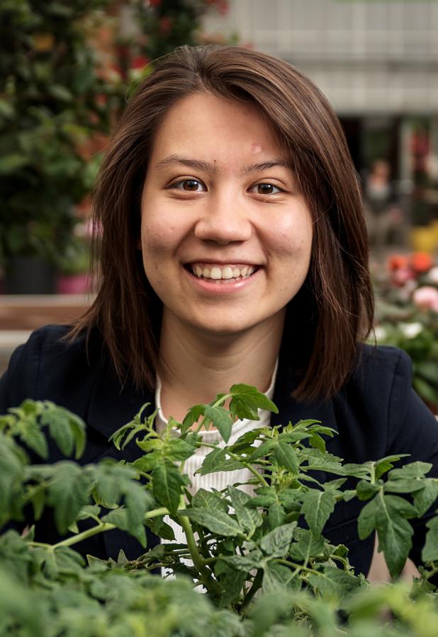 Yasmin Dijksterhuis gaat na een tussenjaar Plantenwetenschappen in Wageningen studeren.