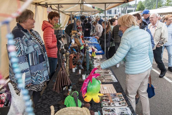 De Franse Markt op Suytkade in Helmond, hier in 2018 nog op de Suytkadeboulevard.