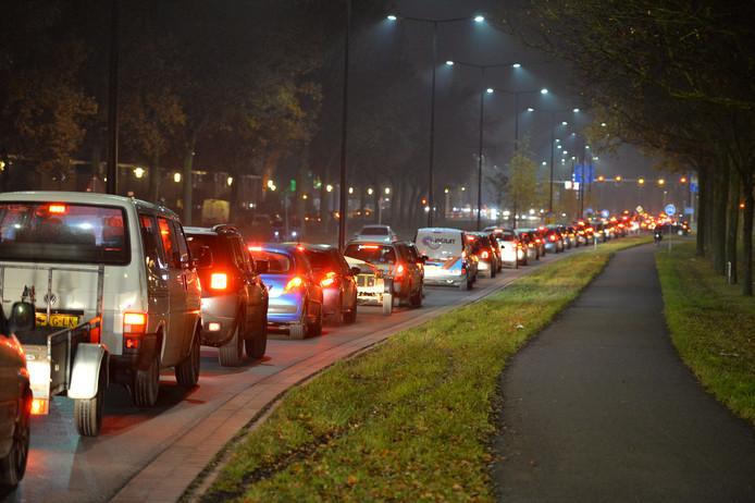 Het verkeer had er wel ietwat last van, maar de klus is juist in de avonduren gedaan om het verkeer zo min mogelijk te hinderen.