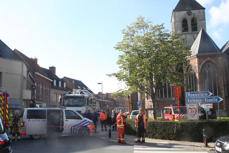 Het ongeval vond pal in het centrum plaats.