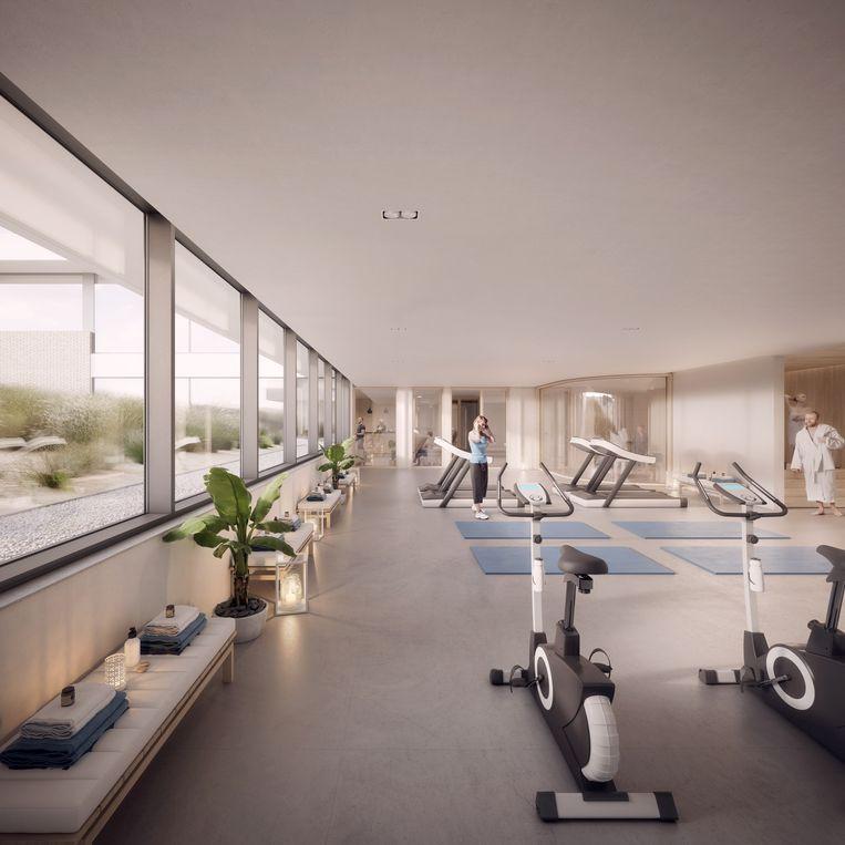 In de residentie zal onder andere een fitness aanwezig zijn.