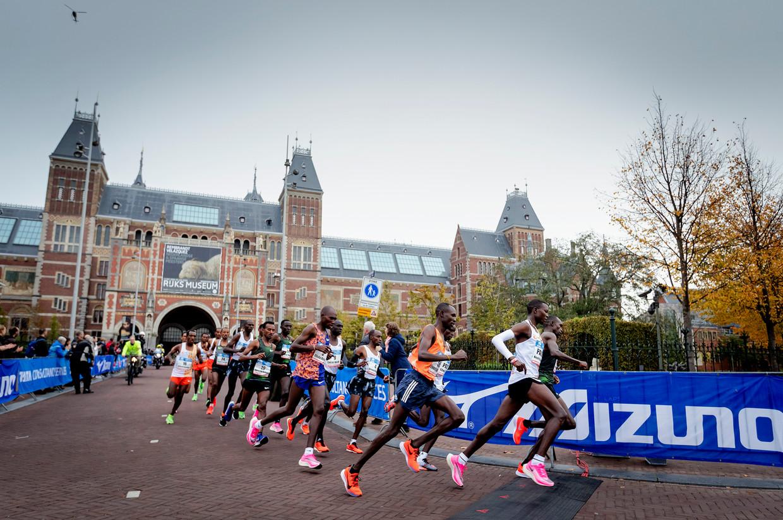 Kopgroep van de Amsterdam Marathon van 2019.