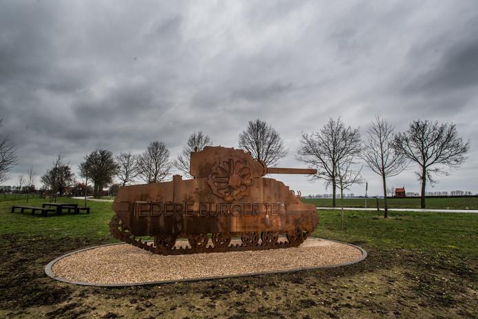Tank in Bemmel. monument