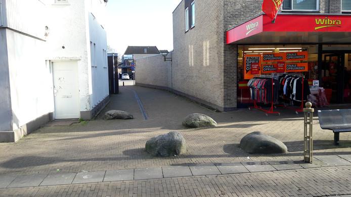 De plek waar in Vaassen de vechtpartij met de politie plaatsvond.
