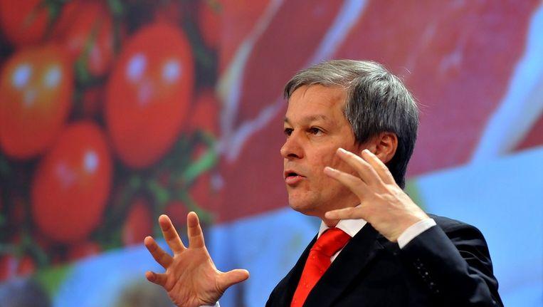 Eurocommissaris van Landbouw Dacian Ciolos Beeld AFP