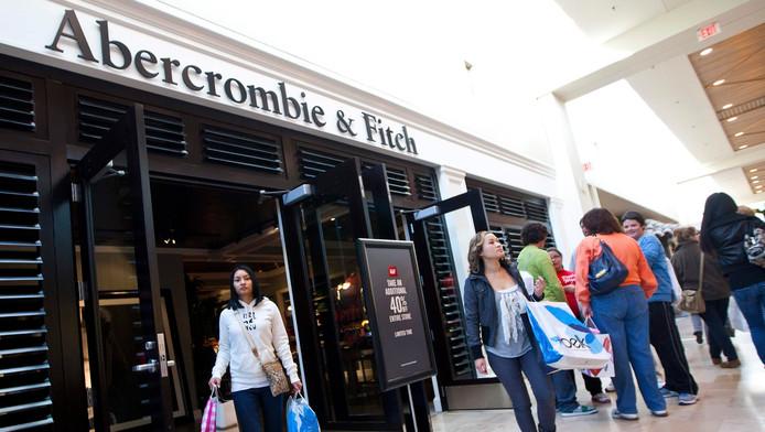 Een Winkel van A&F in een Amerikaanse shoppingmall.