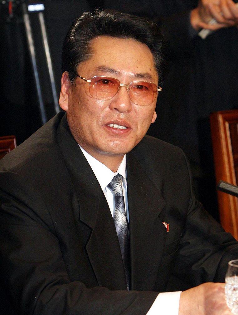 Choe Yong-gon tijdens een bijeenkomst in Seoul in 2004. Beeld afp