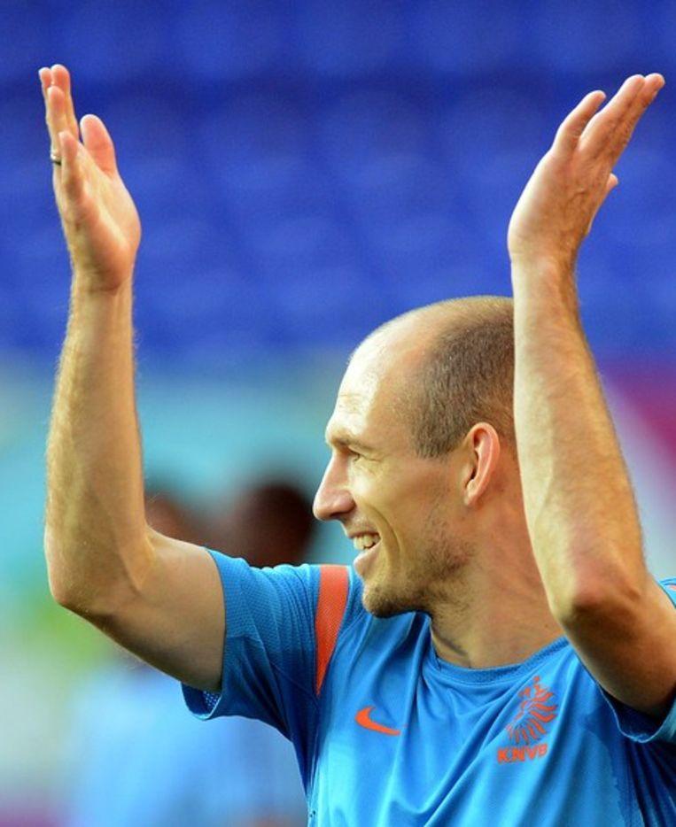Arjen Robben, waar is hij niet goed in? Beeld afp