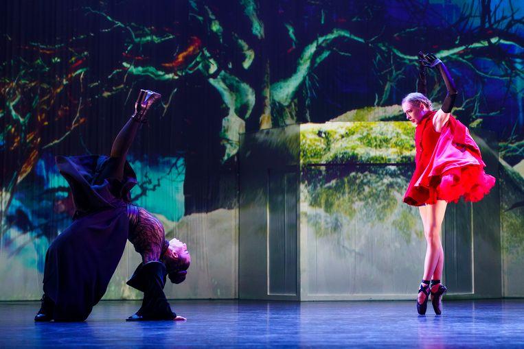 Grimm van ISH en de Junior Company van Het Nationale Ballet. Beeld Michel Schnater