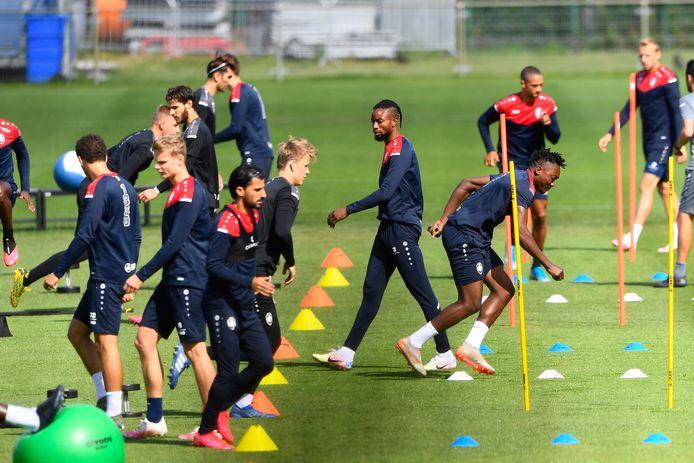 Antwerp-spelers vandaag op training
