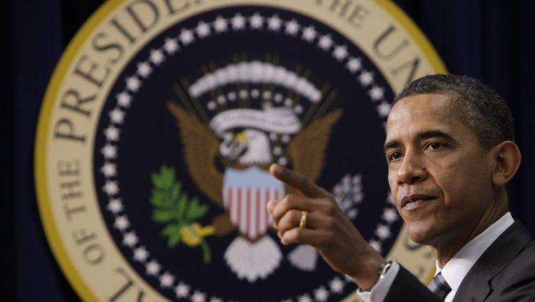 De Amerikaanse president Obama Beeld bruno