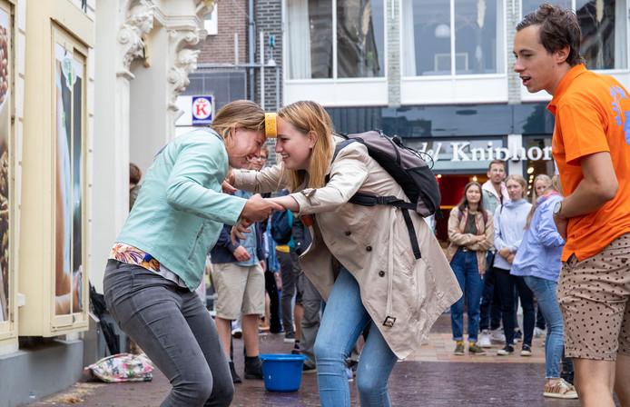 De AID in Wageningen zorgt voor een hoop interactie in de binnenstad.