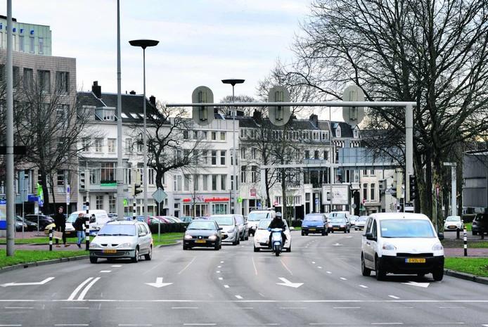 De Arnhemse centrumring op archiefbeeld.