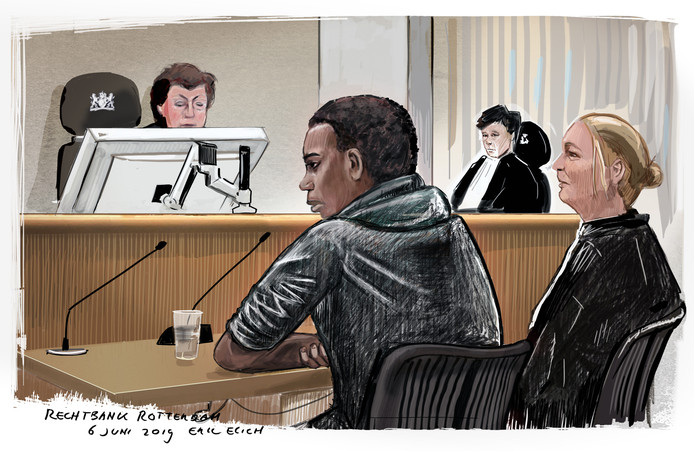 Gerson F. stond twee weken geleden terecht in de rechtbank Rotterdam.