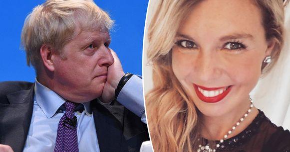 Boris Johnson en zijn vriendin.