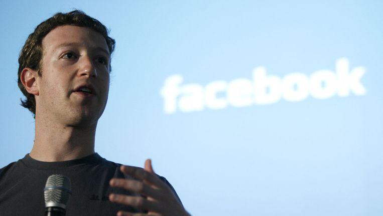 Mark Zuckerberg, oprichter van Facebook Beeld ANP