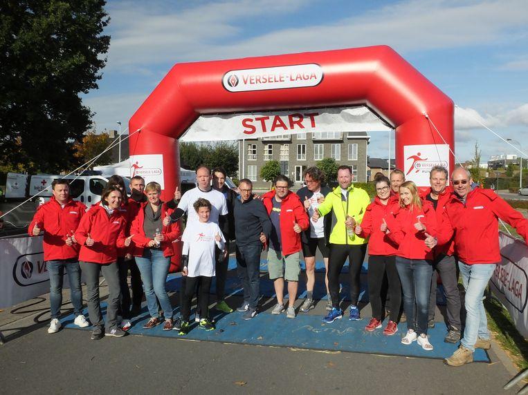 Het team van de Versele-Laga Run en Petegem Kermis.
