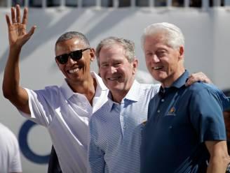 Obama, Bush en Clinton willen zich voor de camera laten inenten
