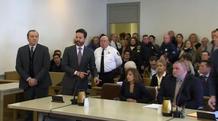 Oscarwinnaar Kevin Spacey moest zich vandaag in Massachusetts in de rechtbank tonen.