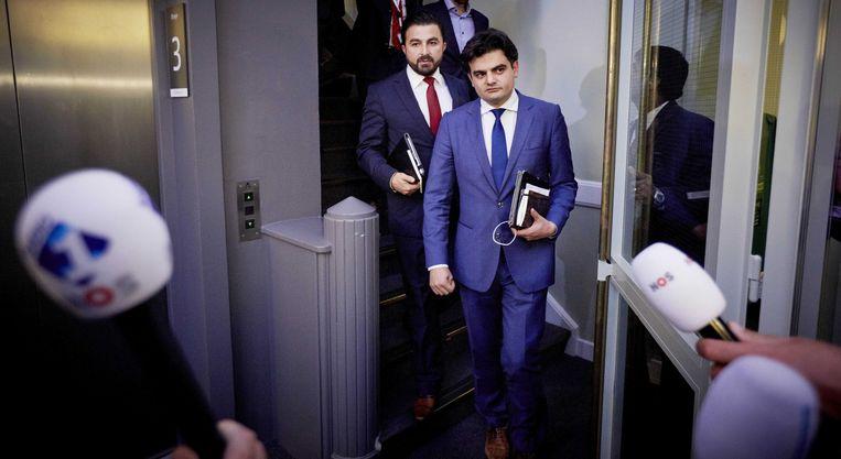 Tunahan Kuzu (R) en Selcuk Öztürk. Beeld ANP