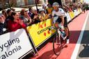 Alejandro Valverde voor de start van de eerste etappe.