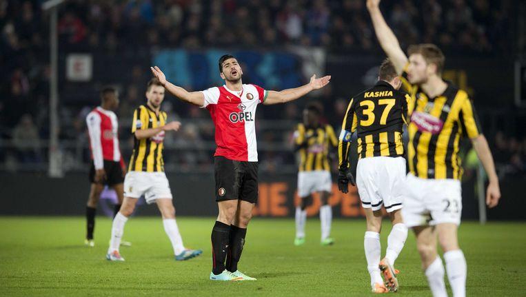 Feyenoord-Vitesse is een van de duels die niet kunnen rekenen op volwaardige ondersteuning. Beeld ANP