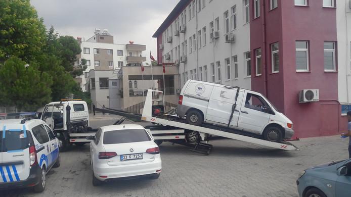 De auto is in beslag genomen