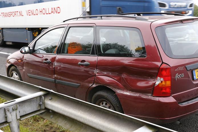 Niemand raakte bij het ongeval op de A73 bij Cuijk gewond.