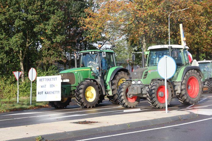 Boeren vertrokken maandagochtend vanaf Schaijk.