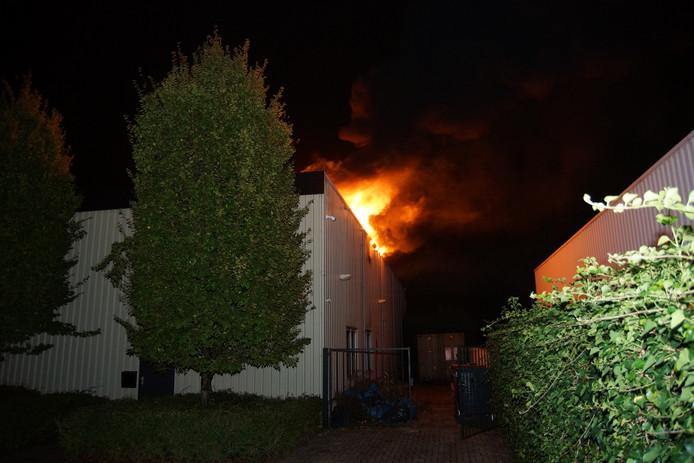 Brandweer bij de grote brand in Sprang-Capelle