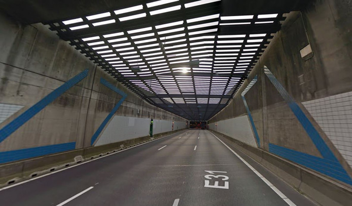 De Noordtunnel vanuit Alblasserdam.