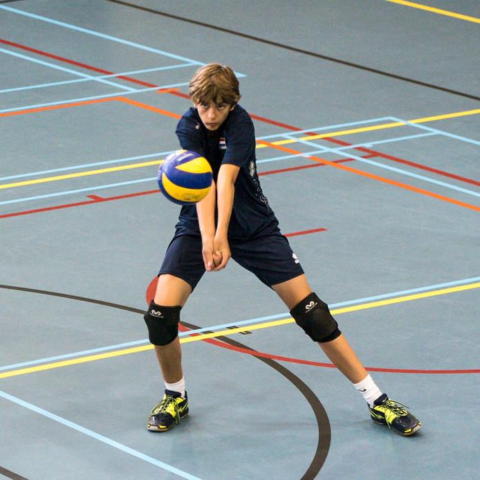 Daan Smulders op Papendal tijdens een training van Pre Jeugd Oranje.