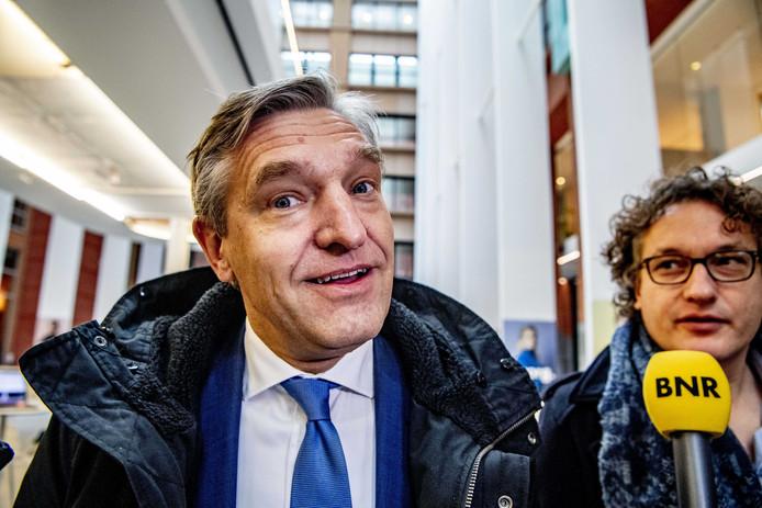 Sybrand Buma (CDA) deze week na pittig coalitieoverleg met de top van Rutte-3.