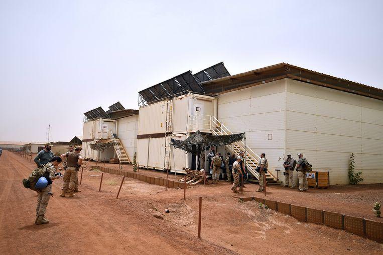 Legerbarakken van de Belgische militairen in Gao, Mali