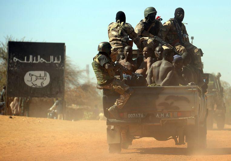 Malinese militairen ten noorden van Gao. Beeld afp