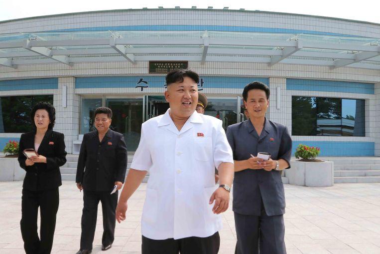 De Noord-Koreaanse leider Kim Jung-un. Beeld EPA