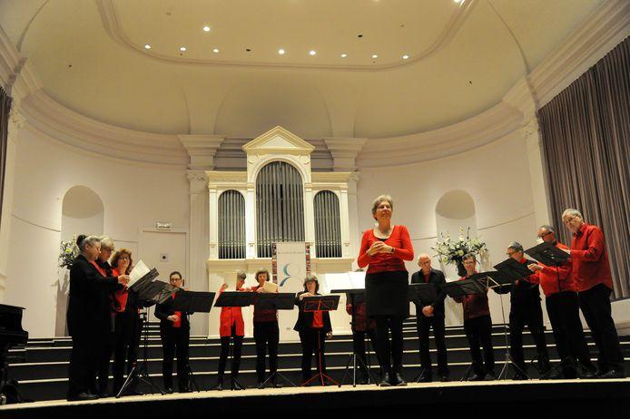 De Zeeuwse Concertzaal tijdens een optreden van vocaal ensemble Voci Miste in 2016.