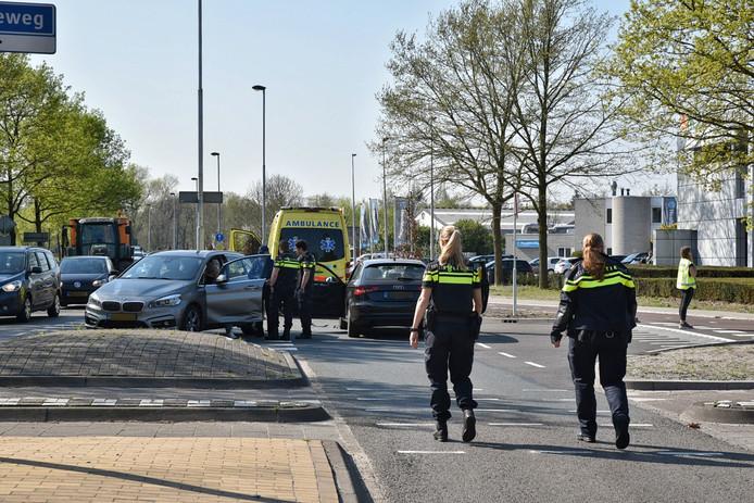 Botsing op de Moergestelseweg in Oisterwijk.