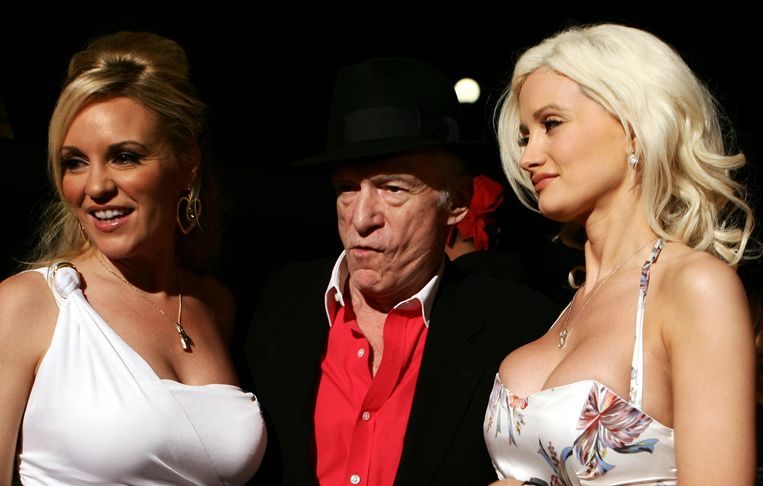 Bridget Marquardt, Hugh Hefner en Holly Madison.