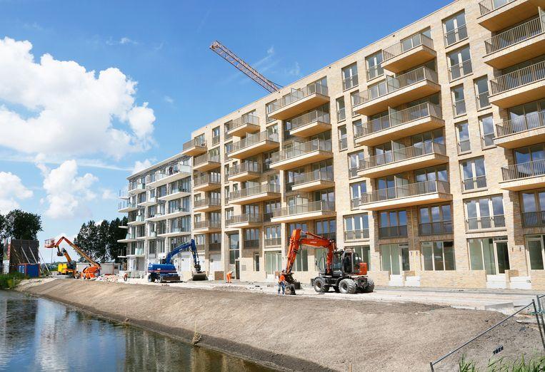 Nieuwbouw op het Amsterdamse Zeeburg. Beeld Hollandse Hoogte / Berlinda van Dam