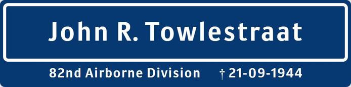 Het nieuwe straatnaambord in Oosterhout.