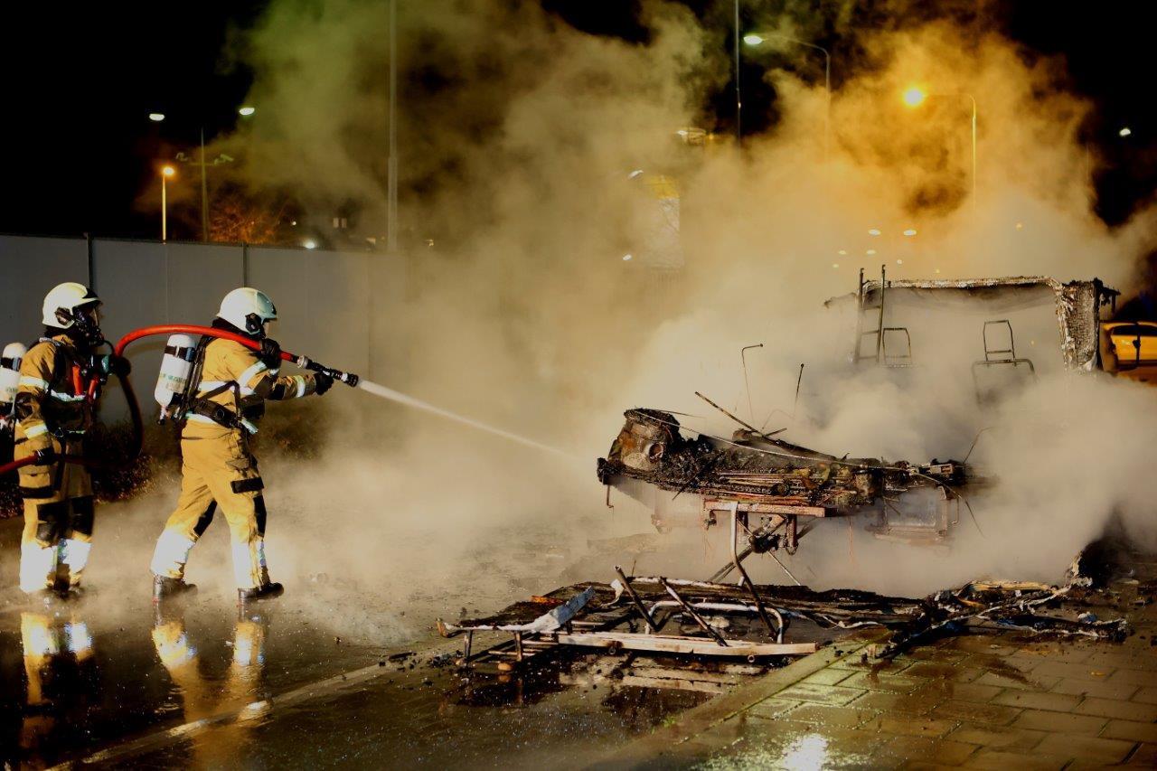 Camperbrand in Den Bosch.