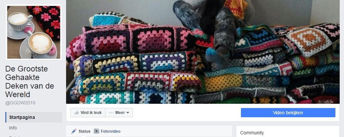 De Facebook-pagina van de haakactie.