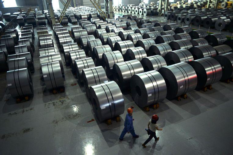 China produceert meer dan de helft van alle staal ter wereld. Beeld AFP