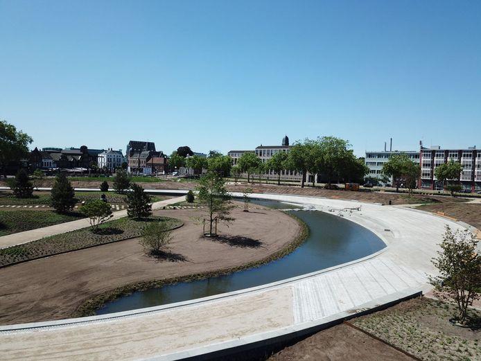 Het nieuwe Burgemeester Geukerspark in Helmond.