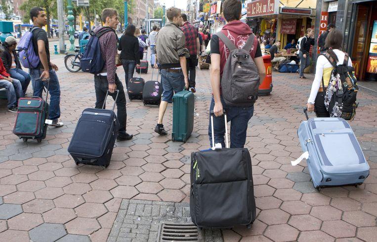 Toeristen worden steeds kritischer en willen meer waar voor hun geld. Bovendien hebben ze door de crisis minder te besteden. Foto ANP/Koen Suyk Beeld