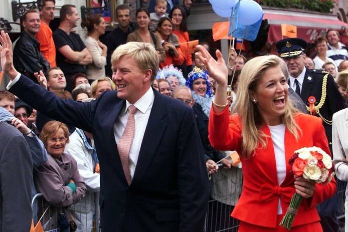 Prins Willem-Alexander en Máxima tijdens een bezoek aan Den Bosch.
